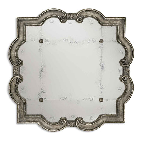 Prisca Distressed Silver Mirror Small