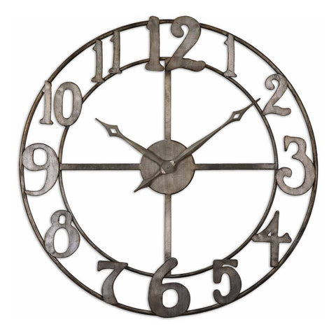 "Delevan 32"" Metal Wall Clock"