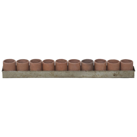 Terracotta Tea Light Ring in Natural Terra Cotta