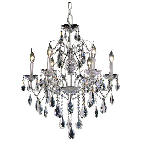 St. Francis 6-Light 24-Inch Chandelier with Clear Crystal