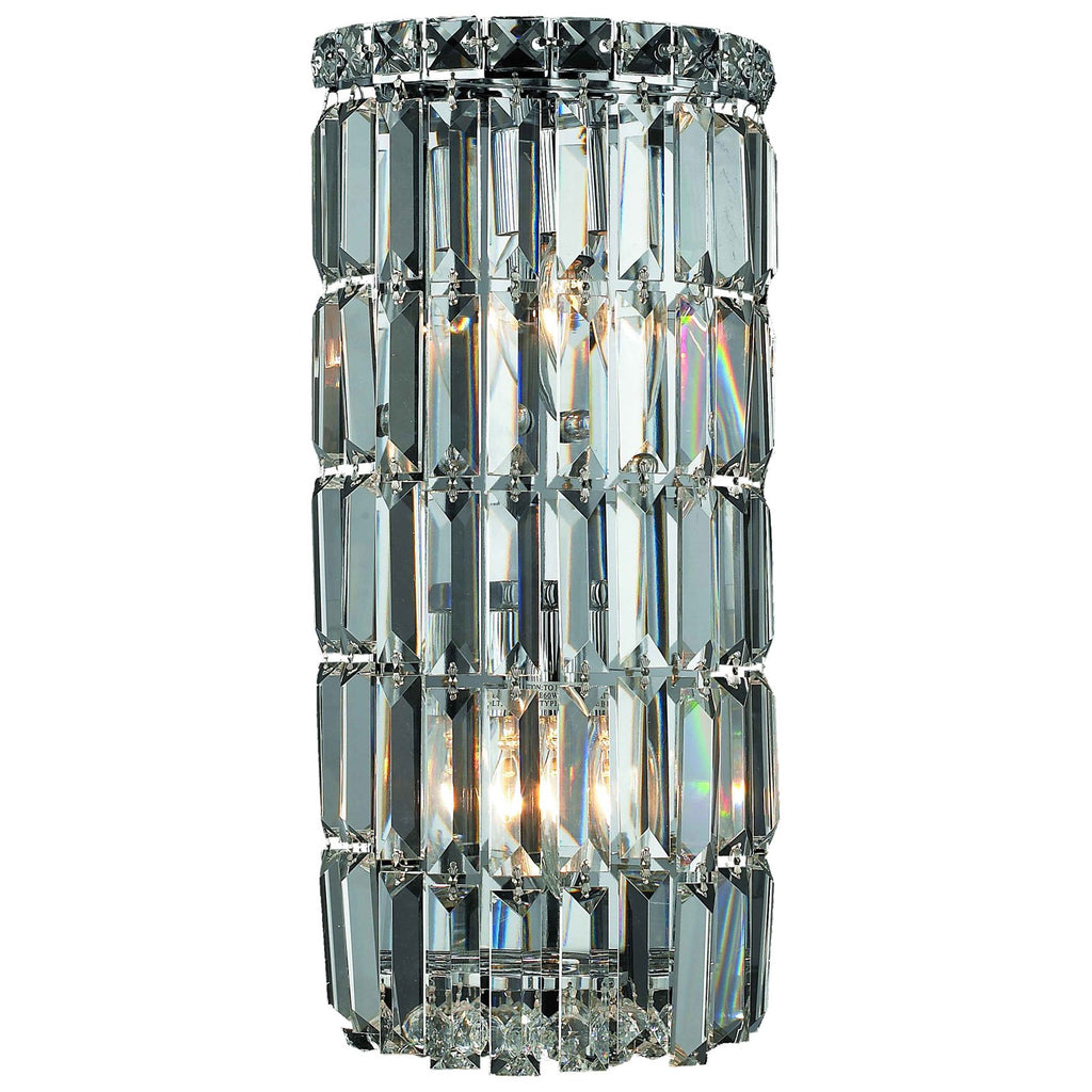 Maxime 2-Light 16-Inch Chrome Wall Sconce