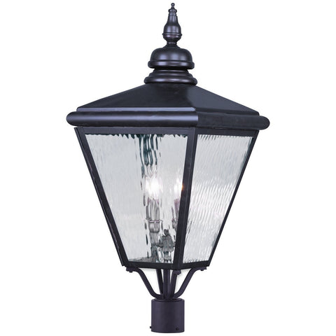 Cambridge 4-Light Bronze Outdoor Post Top Lantern