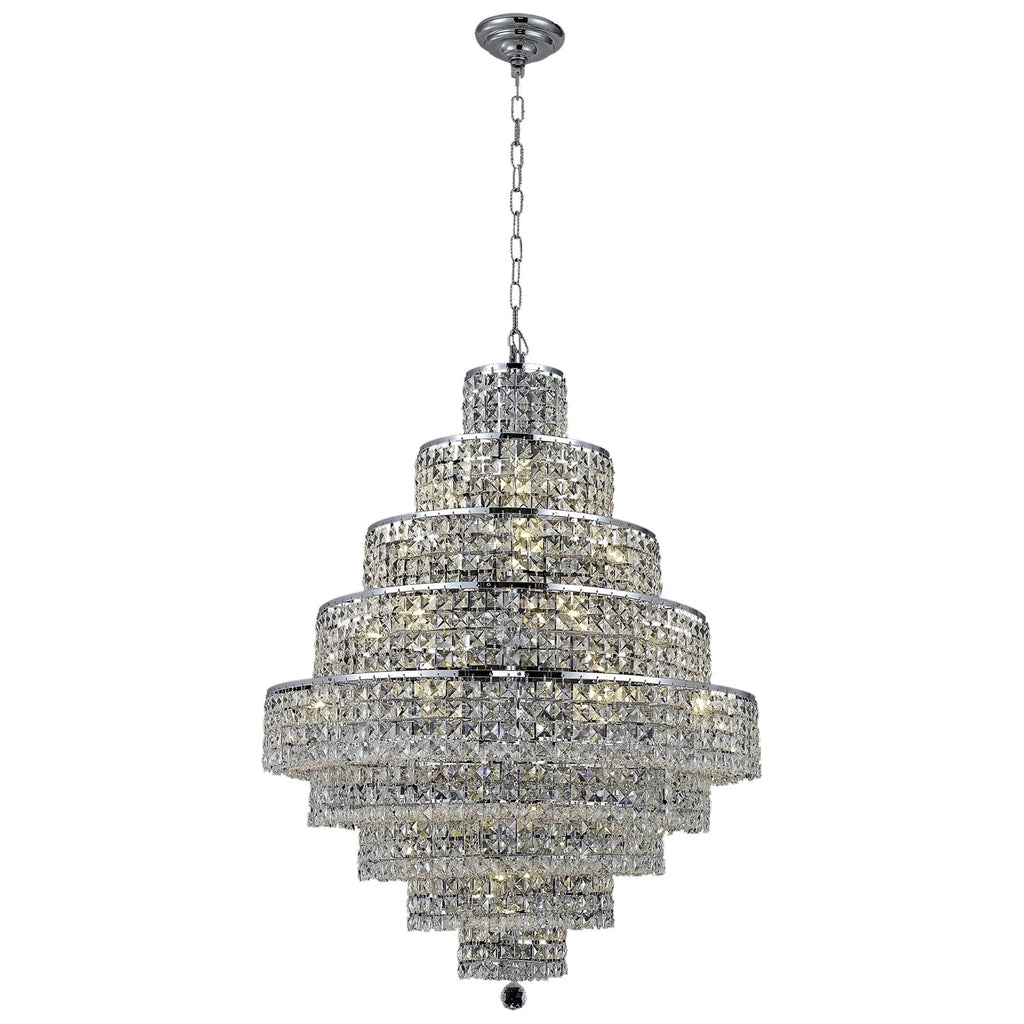 Maxime 20-Light 30-Inch Chandelier with Crystal