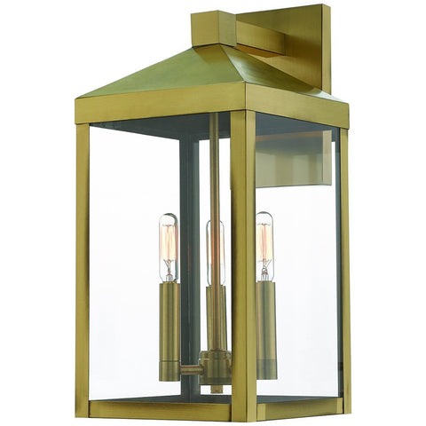 Nyack 3-Light Outdoor Wall Lantern