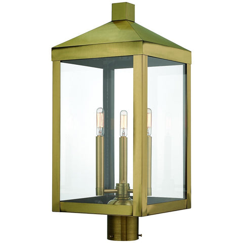 Nyack 3-Light Outdoor Post Top Lantern