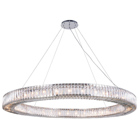 Cuvette 36-Light 63-Inch Chrome Chandelier with Clear Royal Cut Crystal