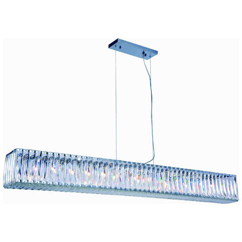 Cuvette 14-Light 60-Inch Chrome Chandelier with Clear Royal Cut Crystal