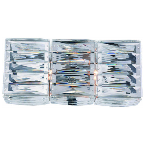 Cuvette 2-Light Chrome Vanity Wall Sconce in Clear Royal Cut Crystal