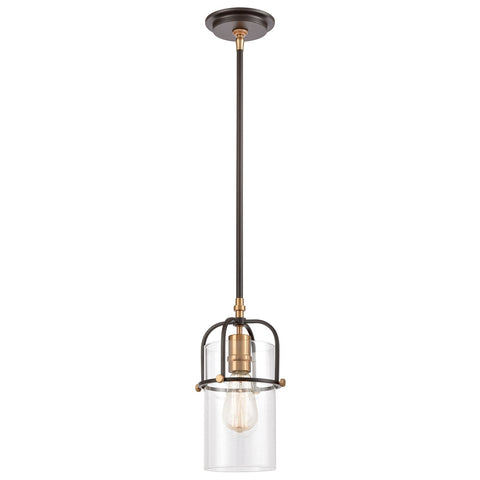 Lakeland 1-Light Mini Pendant with Clear Glass