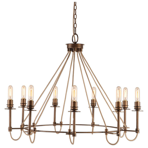 Uttermost Lyndhurst Industrial 9-Light Chandelier