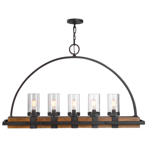 Uttermost Atwood 5-Light Rustic Linear Chandelier