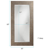 Lancelot Tall Silver Leaf Mirror