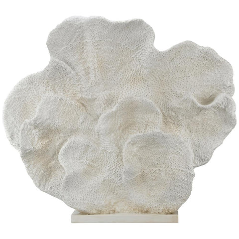 Cretaceous Fossil Sculpture in White