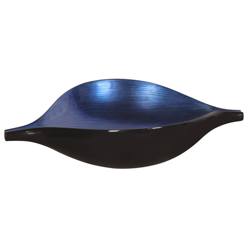Cobalt Blue Wood Bowl