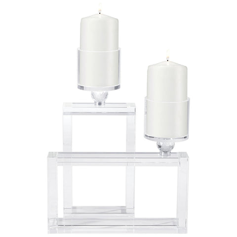 Cubic Candle Holder in Clear