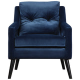 O'Brien Blue Velvet Armchair