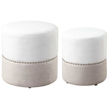 Tilda Two-Toned Nesting Ottomans, 2-Piece Set
