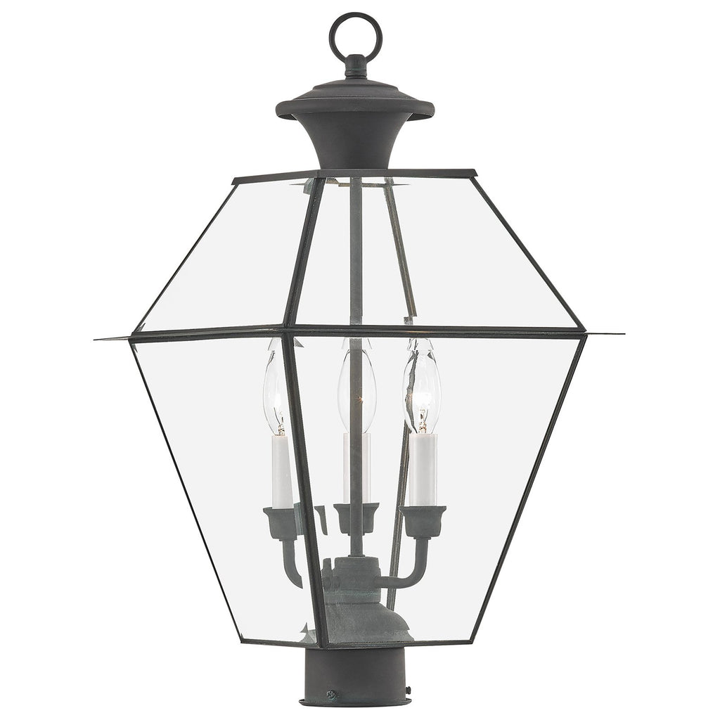 Westover 3-Light Charcoal Outdoor Post Lantern