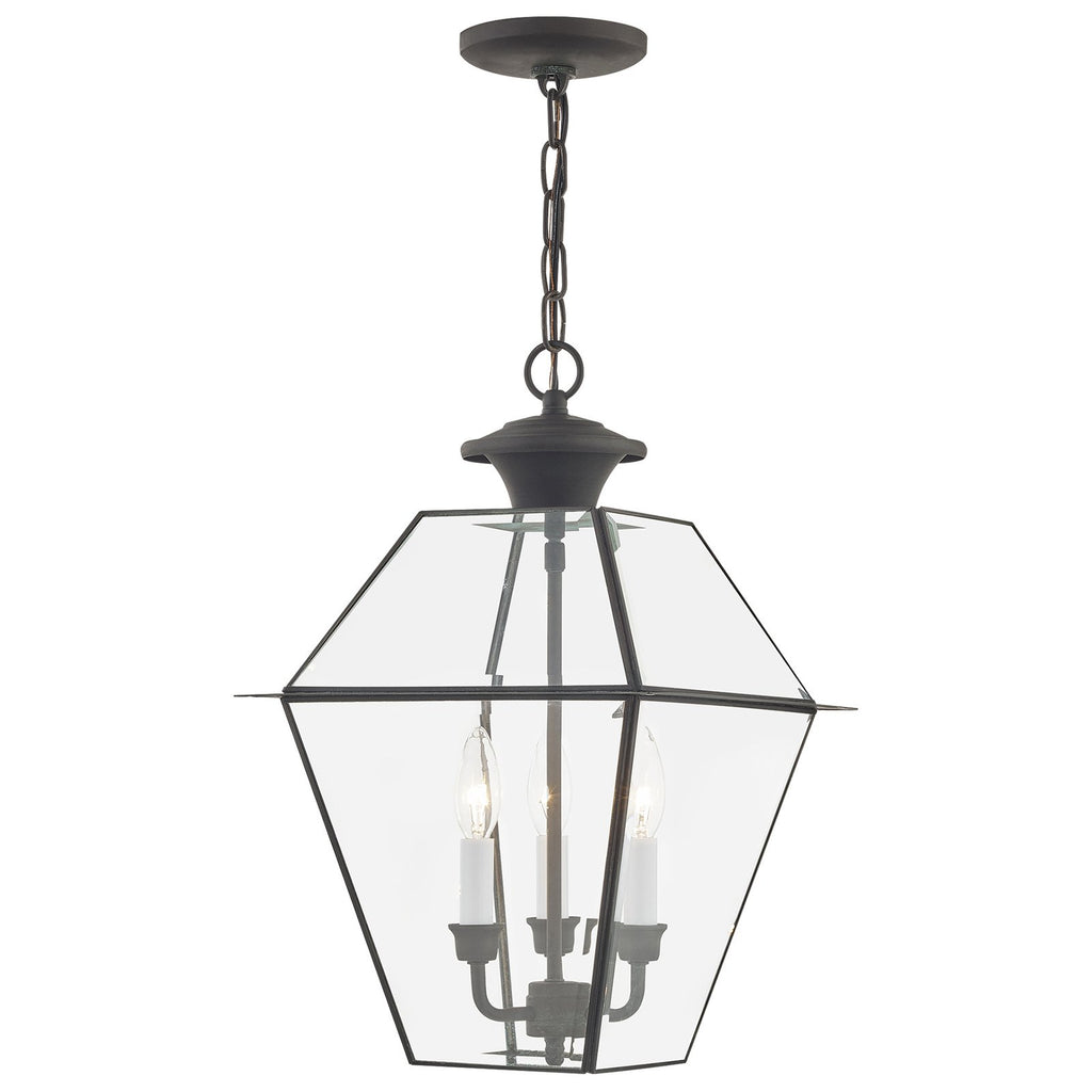 Westover 3-Light Charcoal Outdoor Chain Lantern