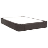 Black Faux Leather Queen Boxspring Cover