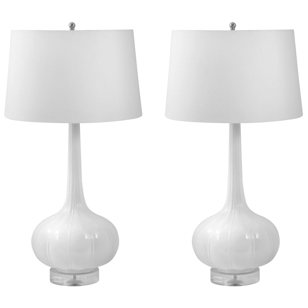 Del Mar Porcelain Table Lamps, Set of 2