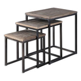 Bomani Wood Nesting Tables, Set of 3
