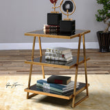 Garrity Black Glass Accent Table