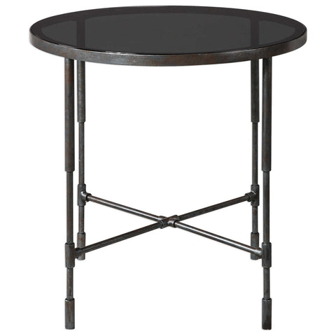 Vande Aged Steel Accent Table