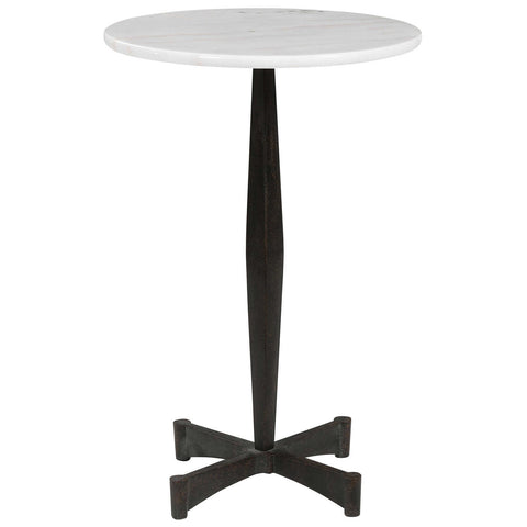Uttermost Counteract White Accent Table