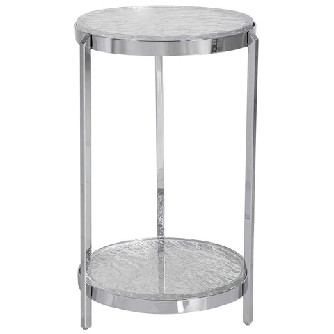 Uttermost Clarence Textured Glass Accent Table