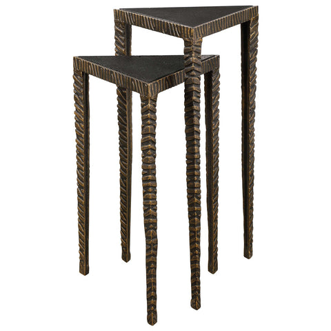 Uttermost Samiria Triangular Accent Tables, Set of 2