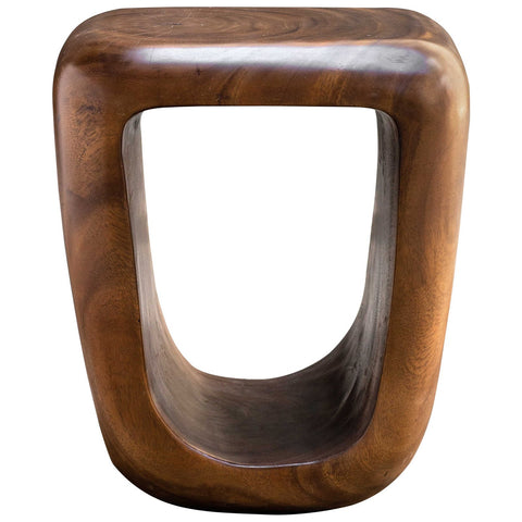 Uttermost Loophole Wooden Accent Stool