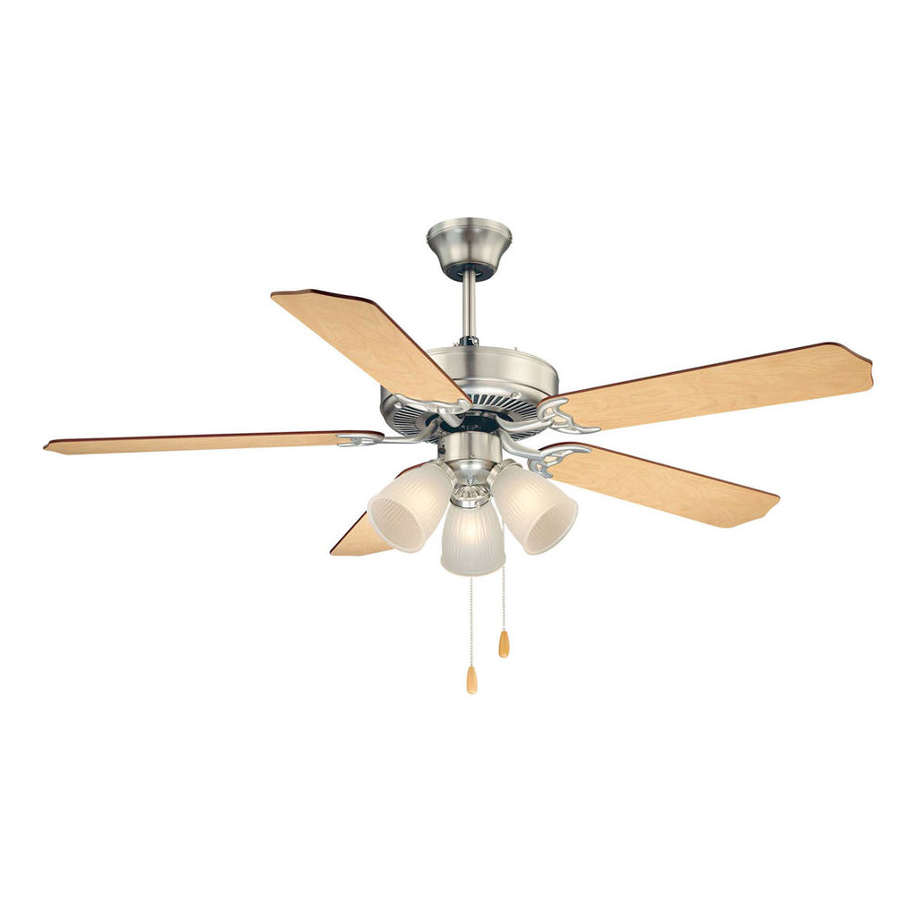 First Value Satin Nickel Ceiling Fan
