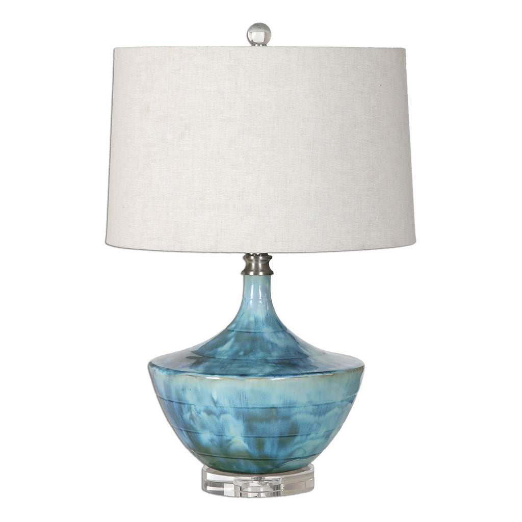 Chasida Blue Ceramic Lamp