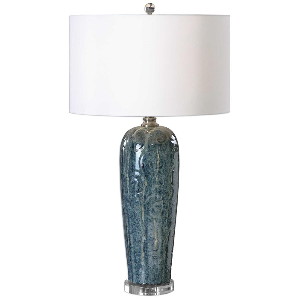 Table lamps transitional maira blue ceramic table lamp maira blue ceramic table lamp aloadofball Choice Image
