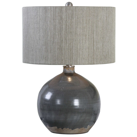 Vardenis Gray Ceramic Lamp