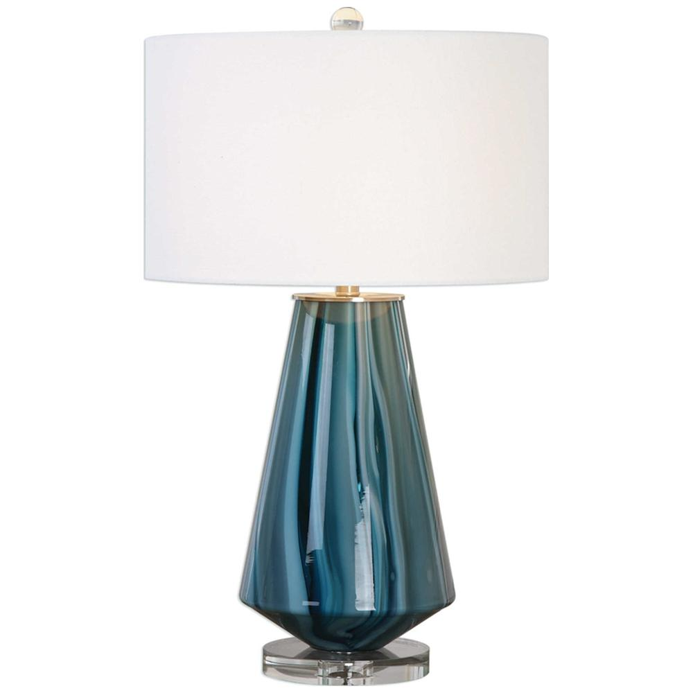 Pescara Teal-Gray Glass Lamp