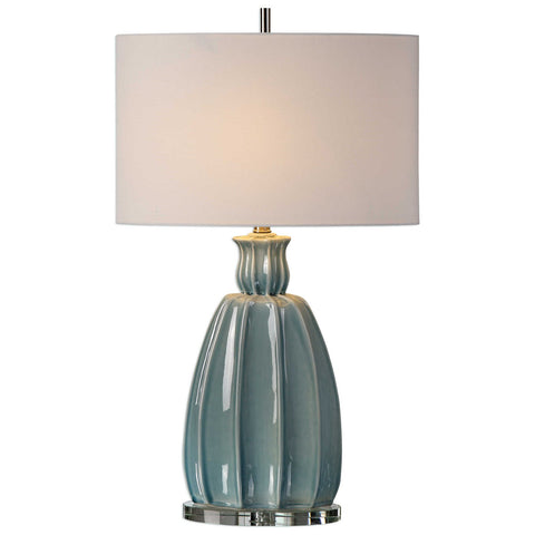 Suzanette Sky Blue Ceramic Lamp