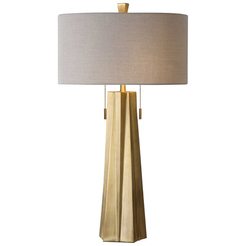 Maris Table Lamp in Antiqued Brass