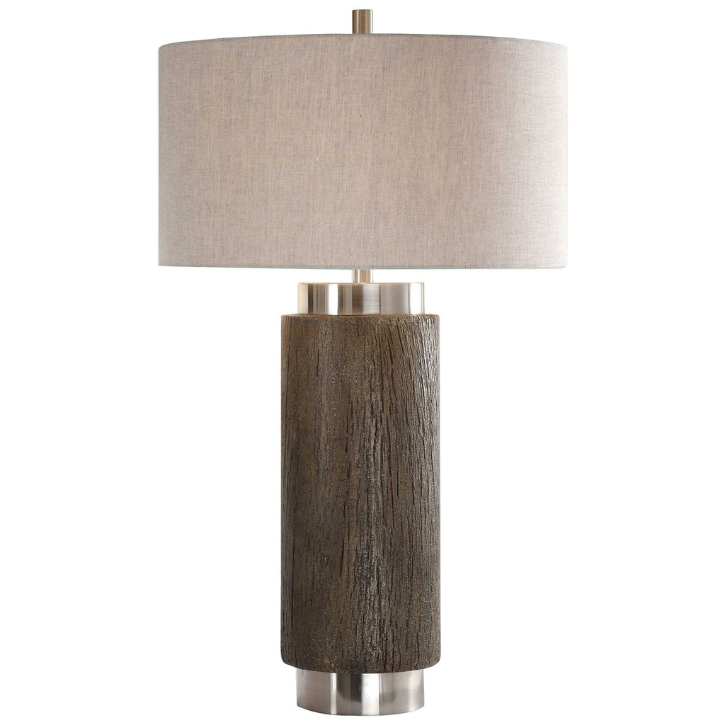 Cheraw Wood Cylinder Lamp