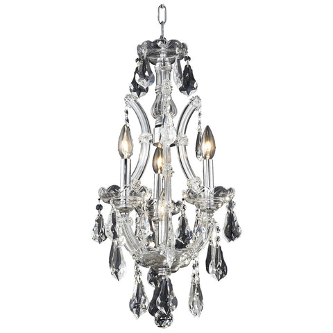 Maria Theresa 4-Light Chandelier with Crystal