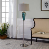 Almanzora Blue Glass Floor Lamp