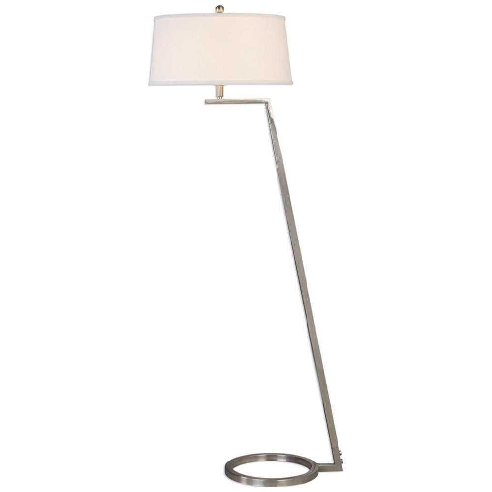 Ordino Modern Nickel Floor Lamp