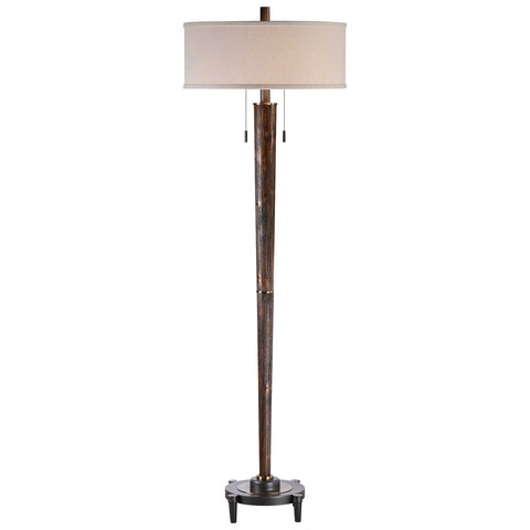 Rhett Burnished Oak Floor Lamp