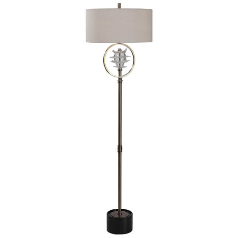 Uttermost Pitaya Antique Brass Floor Lamp