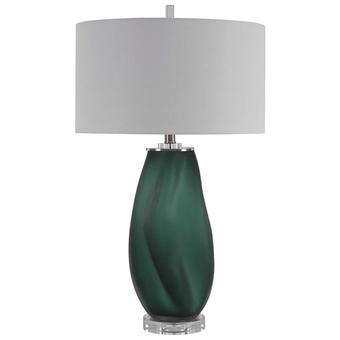 Uttermost Esmeralda Green Glass Table Lamp