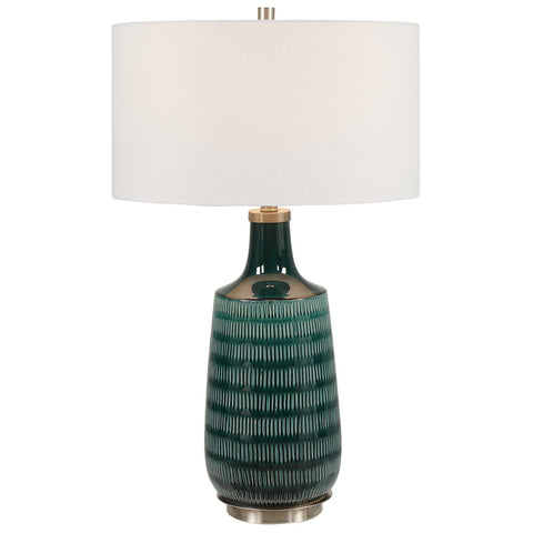 Uttermost Scouts Deep Green Table Lamp