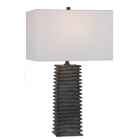 Uttermost Sanderson Metallic Charcoal Table Lamp