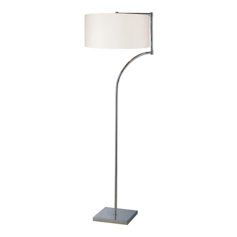 Lancaster 1-Light Chrome Floor Lamp