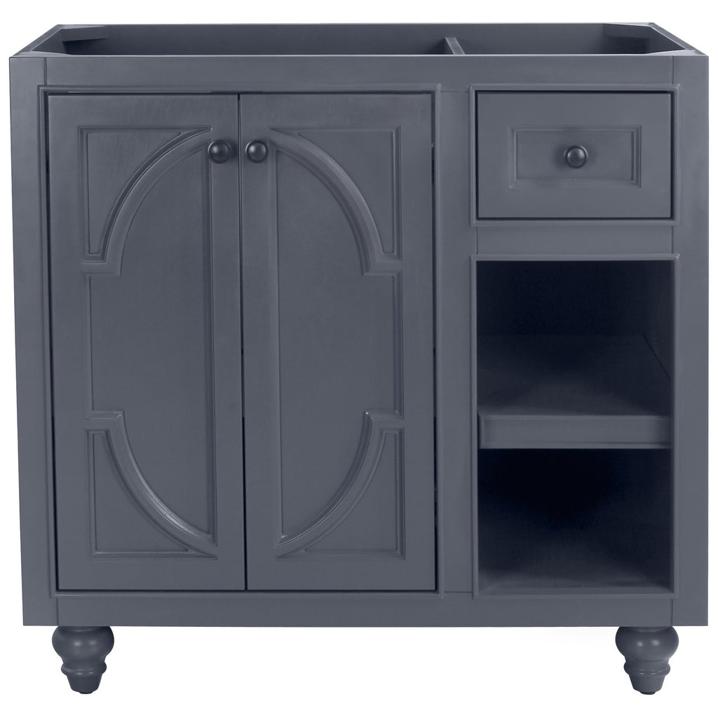 "Grey or White 36"" Single Vanity Base - Odyssey Collection"